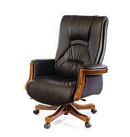 Кресло офисное кожаное АКЛАС Морион ЕХ D-TILT чёрное, фото 1