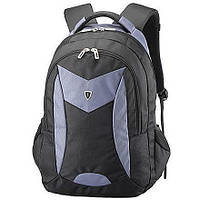 Рюкзак городской с отделением для ноутбука PON-366GY черно-серый, фото 1