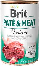 Brit Pate & Meat Dog с олениной влажный корм для собак 400г
