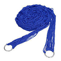 Гамак сетка на кольцах 270х80см Blue, фото 2