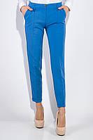 Классические женские брюки ярко-синего цвета