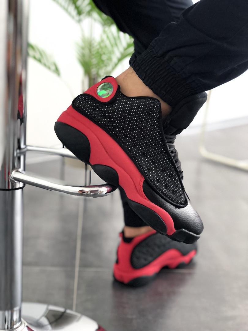"Кроссовки мужские Nike Air Jordan 13  ""Black/Red"""