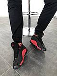 "Кроссовки мужские Nike Air Jordan 13  ""Black/Red"", фото 2"