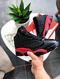"Кроссовки мужские Nike Air Jordan 13  ""Black/Red"", фото 3"