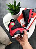 "Кроссовки мужские Nike Air Jordan 13  ""Black/Red"", фото 4"