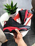 """Кросівки чоловічі Nike Air Jordan 13 """"Black/Red"""", фото 5"""