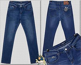 Мужские качественные джинсы классического покроя By Crisson синего цвета