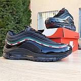 Кросівки чоловічі Nike Air Max 97 UNDEFEATED чорні з обідком, фото 5