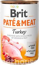 Brit Pate & Meat Dog с индейкой влажный корм для собак 400г