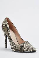 Шикарные женские туфли - змеиная кожа на шпильке. Размеры 36, 37, 38, 39, 40