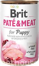 Brit Pate & Meat Puppy с курицей влажный корм для собак 400г