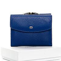 Гаманець жіночий шкіряний синій Classic DR. BOND WS-11 blue, фото 1
