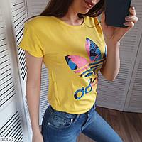 """Женская футболка """"Adidas"""" разных цветов, фото 1"""
