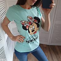 """Женская футболка """"Минни Маус"""" разных цветов, фото 1"""