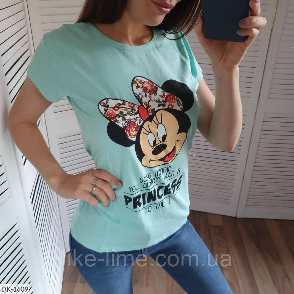 """Женская футболка """"Минни Маус"""" разных цветов"""