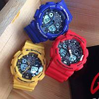 Спортивные часы CASIO G-Shock GA 100 (Черные, Красные, Белые, Желтые, Синие)