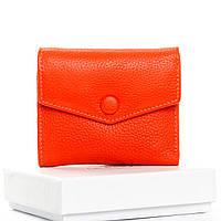 Кошелек женский кожаный оранжевый Classic DR. BOND WS-20 orange, фото 1