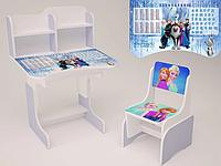 Детская парта-стол растишка со стульчиком высокая для девочки от 3 х лет 028-1 Холодное сердце фиолетовая