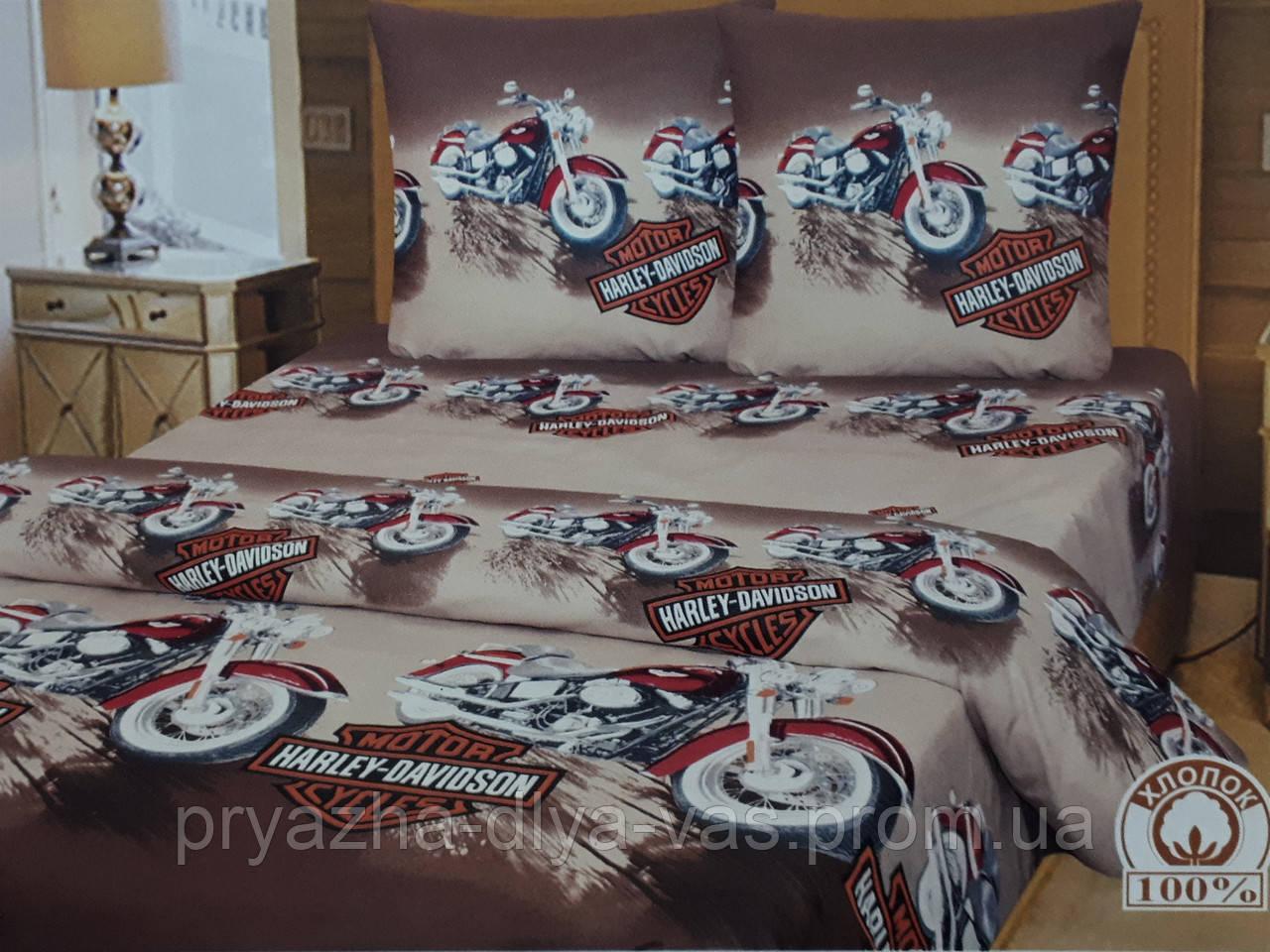 Комплект постельного белья Тиротекс Бязь Харлей Дэвидсон Полуторный 144х215