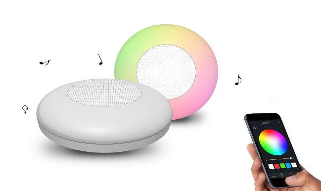 Смарт светильник с Bluetooth стерео динамиком! Свет. Музыка. RGB. USB зарядка