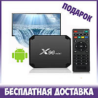 X96 mini TV BOX Android Смарт ТВ телевизионная приставка 1GB/8GB модель Amlogic S905W