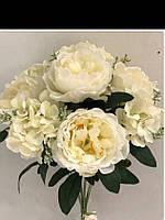 Букет искусственных цветов пион с гортензией (цена за 1 шт +20 грн)