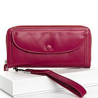 Гаманець жіночий шкіряний бордовий Classic DR. BOND WS-22 purple-red, фото 1