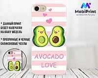 Силиконовый чехол для Apple Iphone 8 Авокадо (Avo-love) (4022-3443)