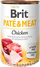 Brit Pate & Meat Dog с курицей влажный корм для собак 400г