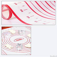 Для запекания и раскатки теста антипригарный силиконовый коврик. 60 на 40 см