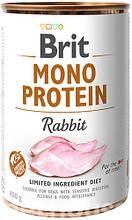 Brit Mono Protein Dog с кроликом  влажный корм для собак 400г