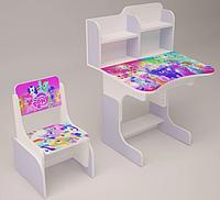 Детская парта-стол растишка со стульчиком от 3 лет Май Литл Пони 018