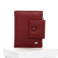 Кошелек женский кожаный бордовый Classic DR. BOND WS-5 dark-red, фото 1