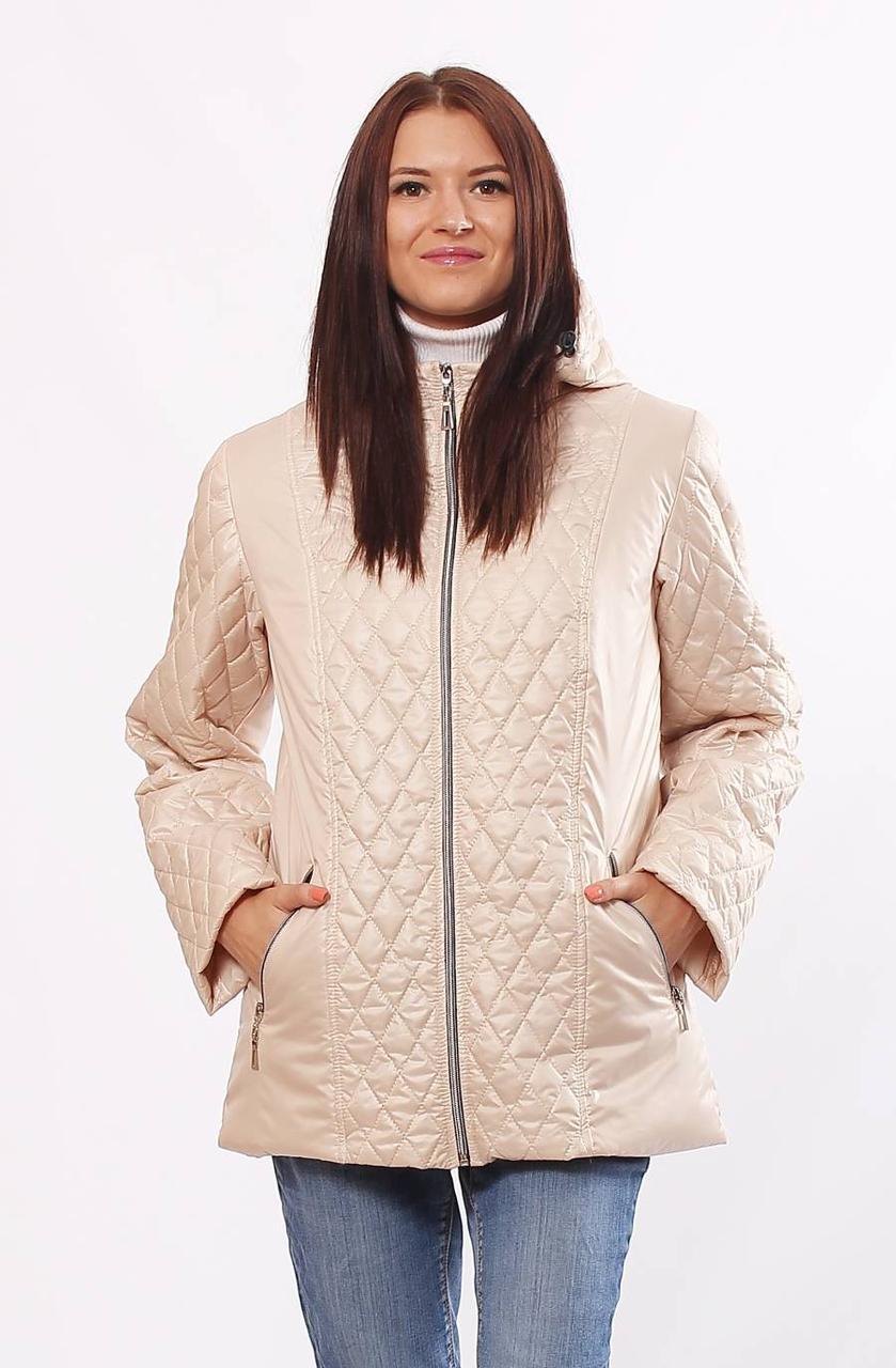 Демисезонная стёганная женская  куртка больших размеров с 46 по 70 размер