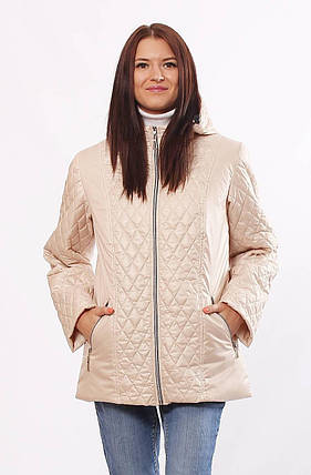Демисезонная стёганная женская  куртка больших размеров с 46 по 70 размер, фото 2