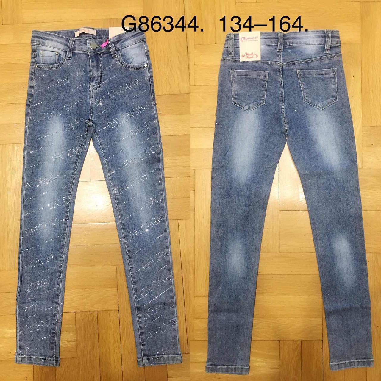 Джинсовые брюки для девочек Grace, 134-164 pp. Артикул: G86344