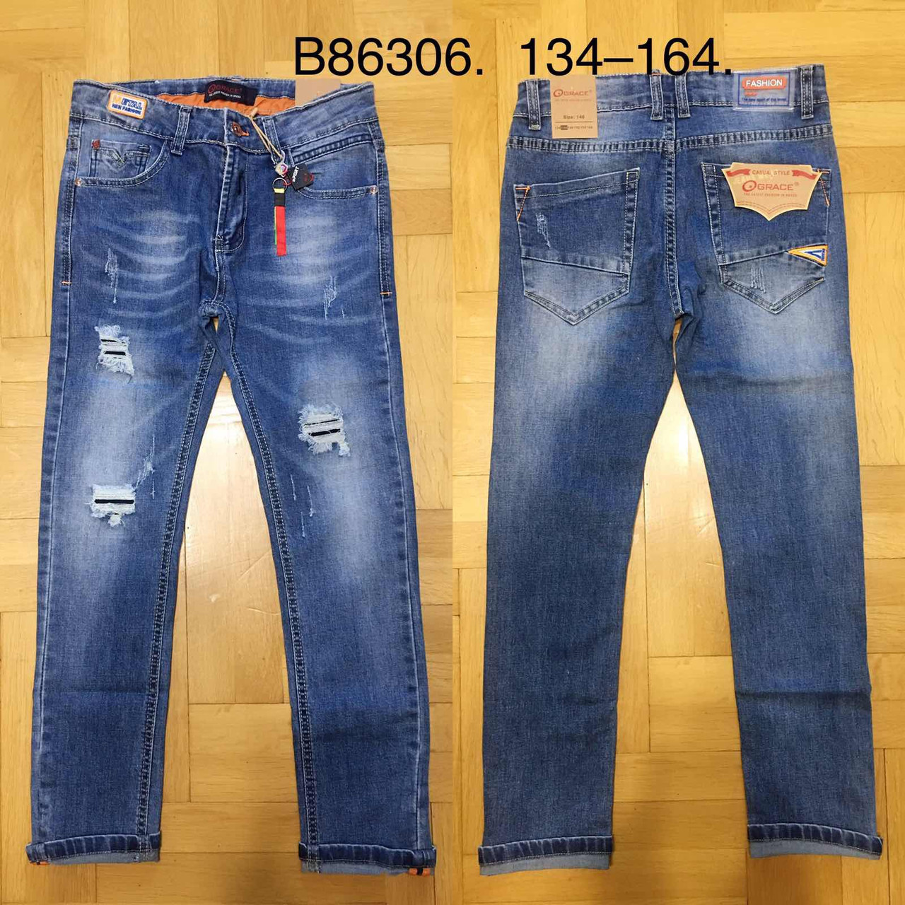 Джинсовые брюки для мальчиков Grace, 134-164 pp. Артикул: B86306