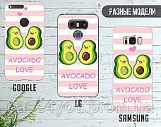 Силиконовый чехол для Samsung G935 Galaxy S7 Edge Авокадо (Avo-love) (28048-3443), фото 3