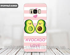 Силиконовый чехол для Samsung G935 Galaxy S7 Edge Авокадо (Avo-love) (28048-3443), фото 2