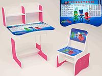 Детская парта-стол растишка со стульчиком от 3-х лет Герои в масках  029