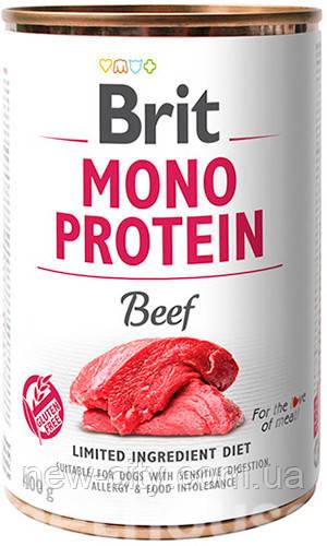 Brit Mono Protein Dog с говядиной влажный корм для собак 400г