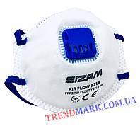Противовирусный респиратор SIZAM AIR FLOW 9214 класс защиты FFP2 N95 с клапаном