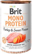 Brit Mono Protein Dog с индейкой и сладким картофелем влажный корм для собак 400г