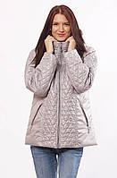 Стильная демисезонная женская  куртка из стёганной плащёвки больших размеров с 46 по 72 размер