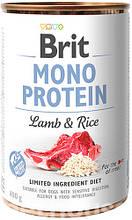 Brit Mono Protein Dog с ягненком и рисом влажный корм для собак 400г