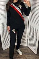 Спортивный костюм женский 001 черный