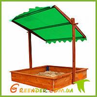 Детская песочница  с крышкой деревянная 27 на игровую площадку - 145х145см