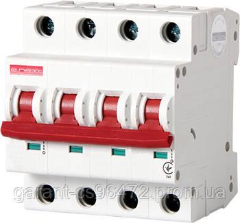 Модульный автоматический выключатель e.industrial.mcb.100.3N.C20, 3р+N, 20А, С, 10кА