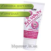 Зубная паста для детей NOW Xyli White kids toothpaste gel 85 г