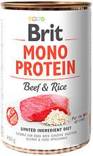 Brit Mono Protein Dog с говядиной и рисом  влажный корм для собак 400г